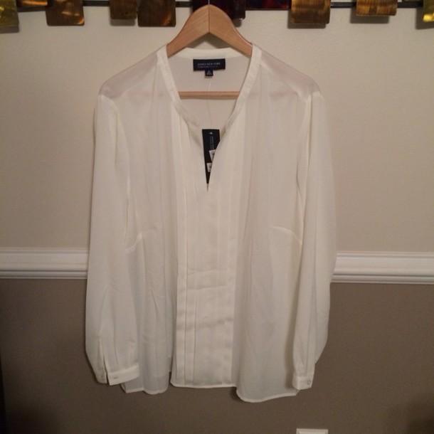 blouse ivory jones new york