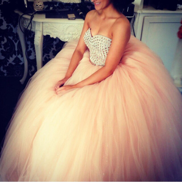 bustier prom dress tulle dress prom formal event prom dress pink prom dress dress blush pink quinceanera dress