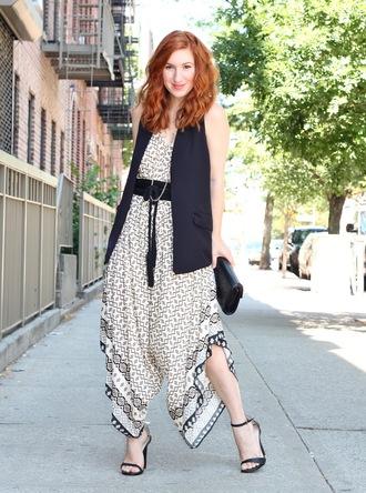 tf diaries blogger jumpsuit shoes bag jacket belt