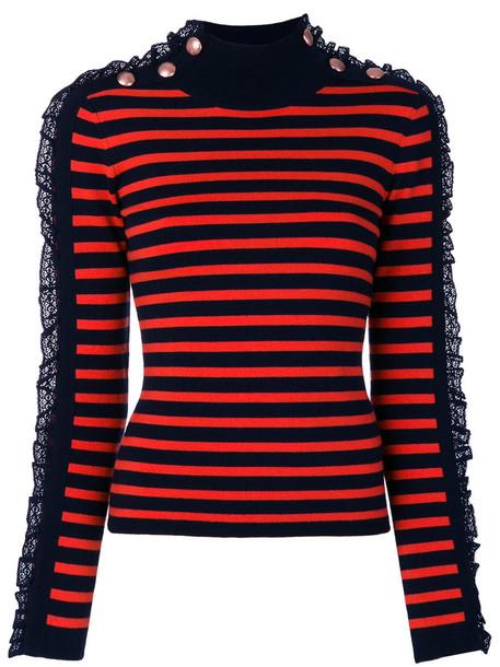 Manoush jumper women spandex cotton blue wool sweater