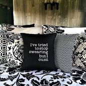 home accessory,pillow,quote on it pillow,throw pillows,quote on it,cute pillow,funny quote,saying,funny saying,black,white,funny,home decor,home furniture,home design