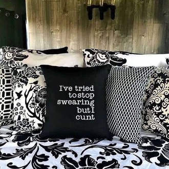 home accessory pillow quote on it pillow throw pillows quote on it cute pillow funny quote saying funny saying black white funny home decor home furniture home design