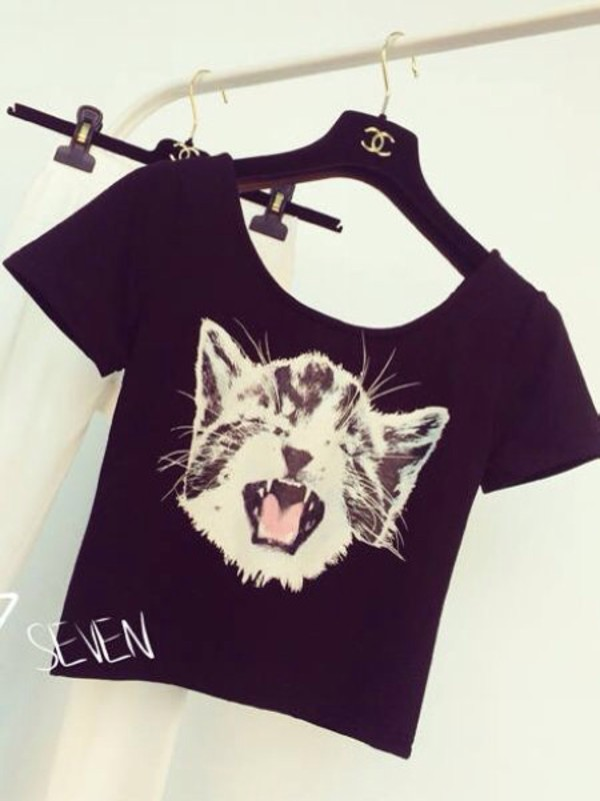 cat print asian asian fashion