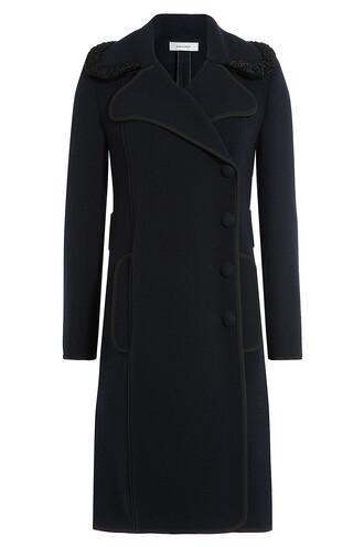 coat wool coat wool blue