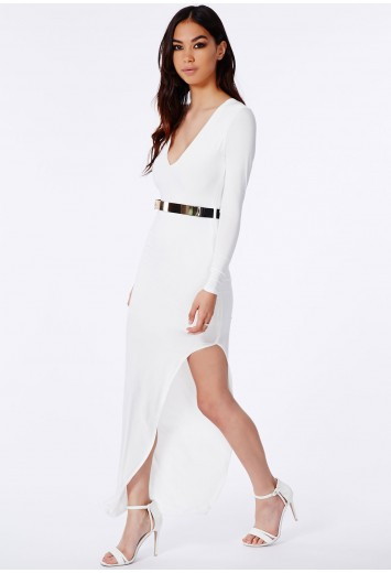 Missguided - Leonora Belted Slinky Maxi Dress