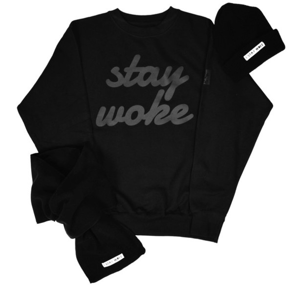 Shirt: peacedenimco, all black everything, black, sweater, hat ...