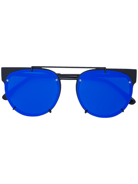 Vera Wang women plastic sunglasses blue