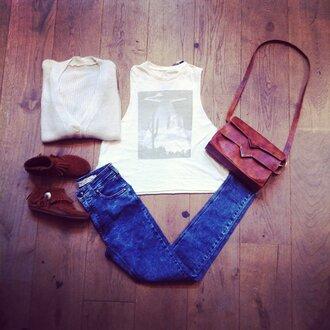 bag brandy purse triangle swag tumblr vintage brandy melville brandymelville shoes shirt jeans sweater