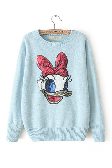 Cartoon Donald Duck Printed Sweater [FKBJ10411]- US$ 34.99 - PersunMall.com