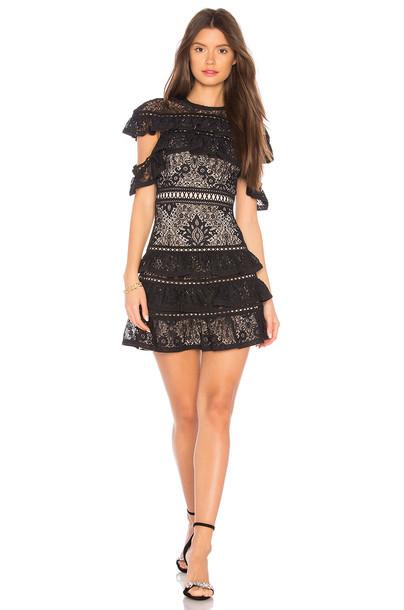 alice + olivia dress black