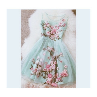 floral dress perfecto love culture floral organza mint pink dress tourquise