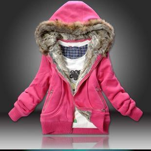Blue/Pink/Yellow Fur Collar hooded sweater women clothing Autumn Winter loose cotton sweatshirt hat outerwear hoodies sweater XL-inHoodies & Sweatshirts from Apparel & Accessories on Aliexpress.com