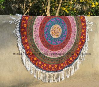 home accessory mandala fringes