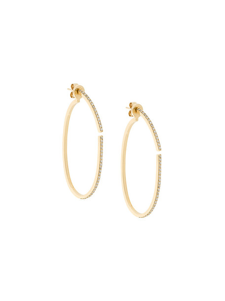 Paige Novick women earrings hoop earrings gold grey metallic jewels