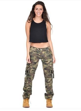 pants camouflage combat top fashion style camo pants trouser
