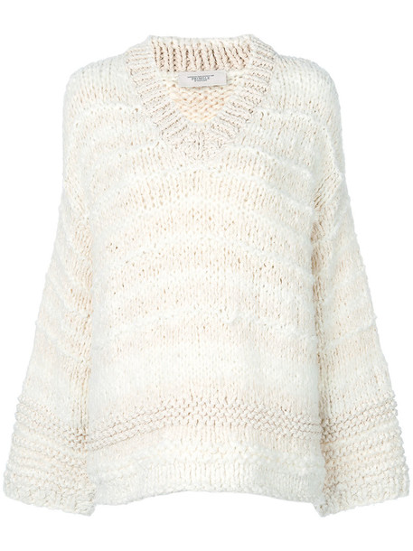 PRINGLE OF SCOTLAND sweater women fit nude cotton silk