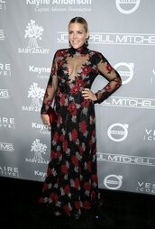 dress,busy philipps,lace dress,gown,prom dress,floral