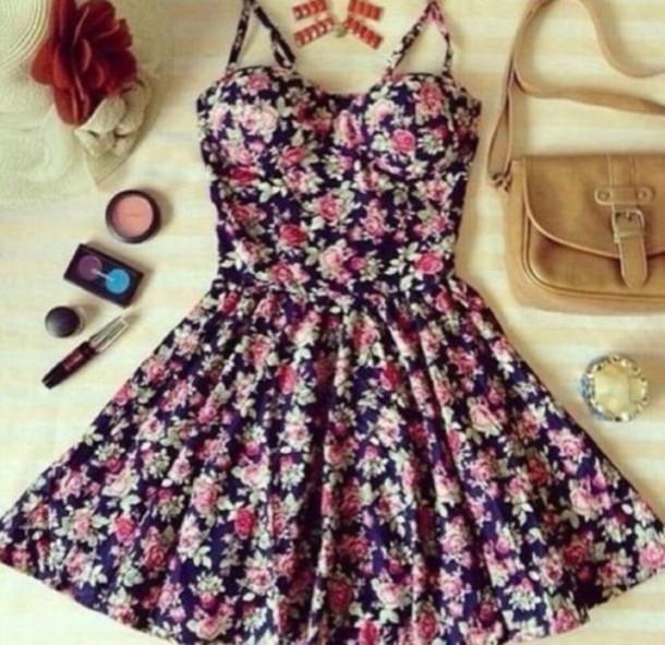 dress flowers cute summer spring a flower dress cute dress