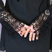 dress,black,lace,crochet,pretty,fashion