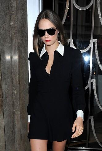 dress cara delevingne collared dress