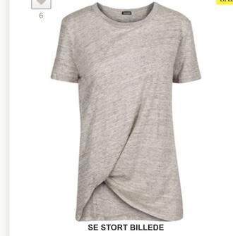 blouse grey t-shirt