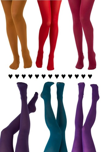 tights red mustard cranberry purple green teal color colorful colors