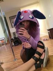 jacket,purple,hoodie,pokemon,cute,ears,hood,girly