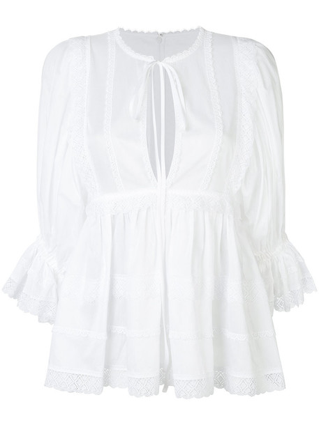 Dolce & Gabbana tunic women white cotton top