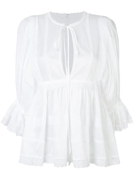 tunic women white cotton top