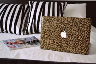 tank top apple macbook macbook air computer leopard print phone cover computer accessory