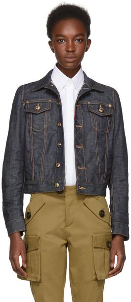 Dsquared2 jacket denim jacket denim blue