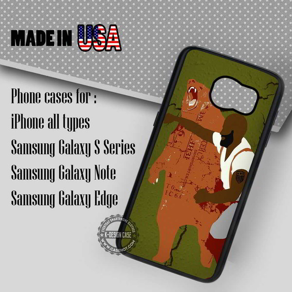 phone cover punching grizzly bear