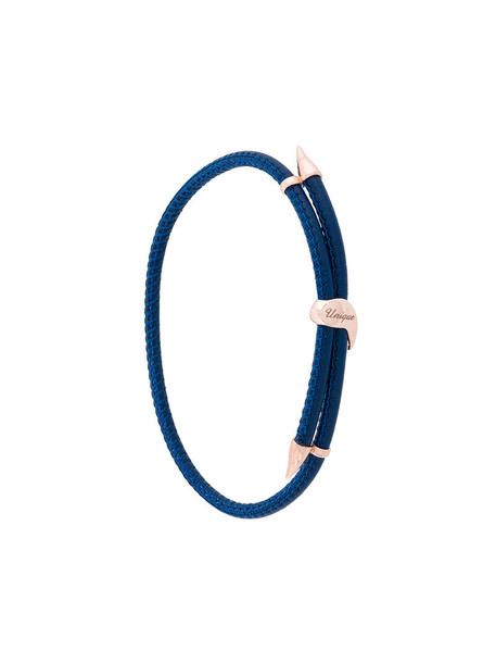women gold leather blue jewels