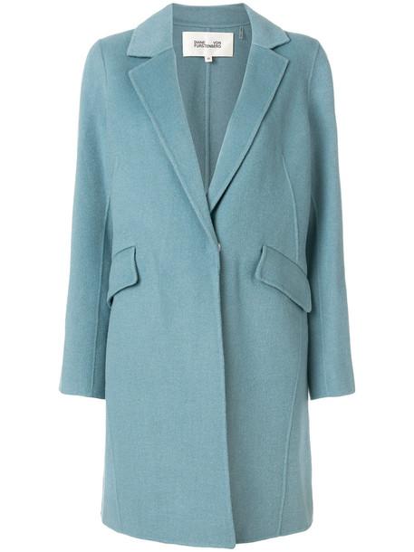 Dvf Diane Von Furstenberg coat women blue wool