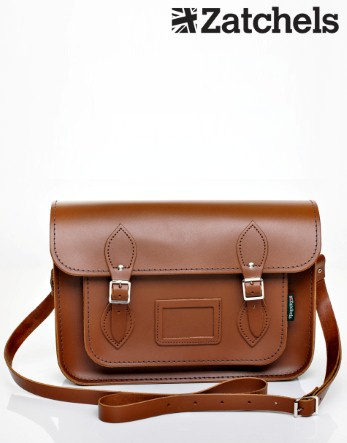 Zatchels Large Tan Satchel - Lipsy