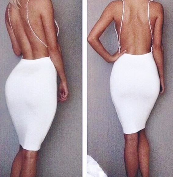 white dress bodycon dress