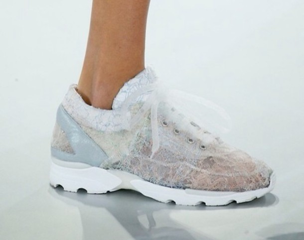 f20fcf46aaac shoes lace white see through tumblr fashion sneaks sneakers nikes puma  blond shoes girl girly hummel
