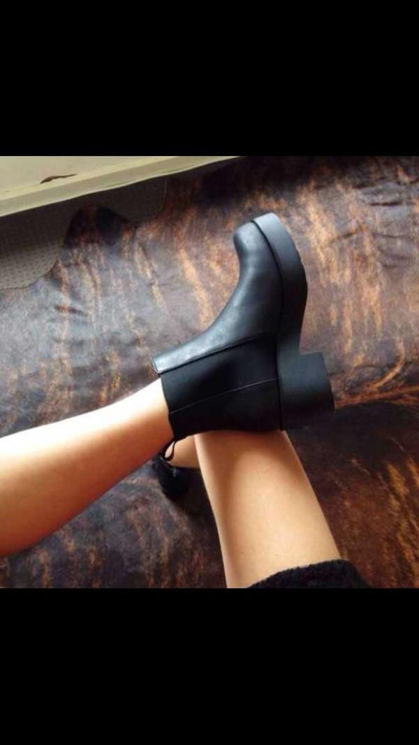 shoes winter outfits black platform shoes