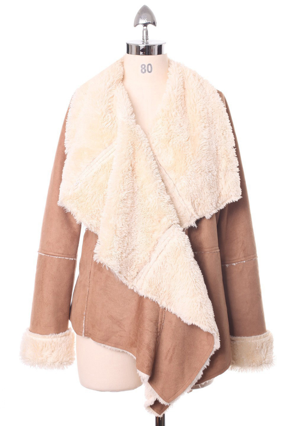 Chicwish Drape Jacket in Camel - Retro, Indie and Unique Fashion