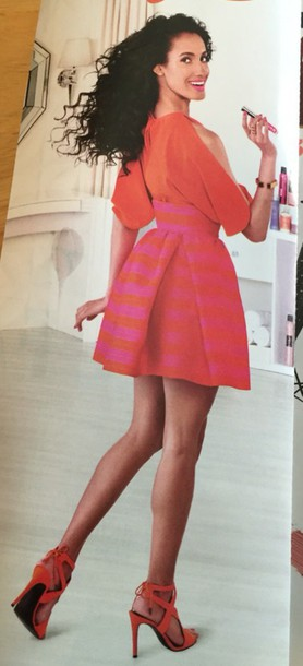 skirt ulta orange dress mini dress