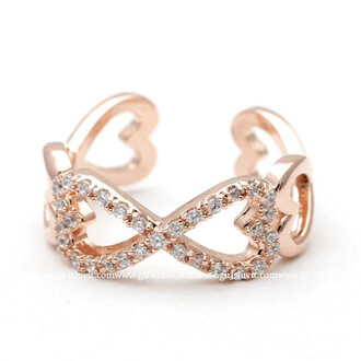 ring heart ring jewels engagement ring eternity ring adjustable ring infinity ring infinity heart ring fashion jewelry rosegold ring