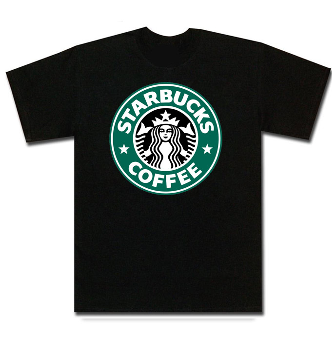 Starbucks Coffee T Shirt - 217203 White - Various - Shirt is 100 Pre Shrunk Cotton For Long Lasting