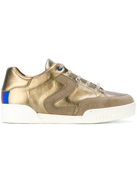 Stella McCartney metallic women sneakers leather grey shoes