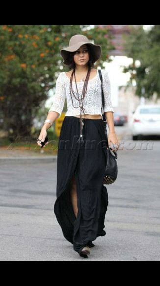 vanessa hudgens crochet mid-length sleeves