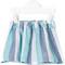 Knot - ocean stripes frill skirt - kids - linen/flax - 10 yrs, blue