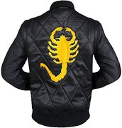jacket,ryan gosling yellow scorpion jacket,36683