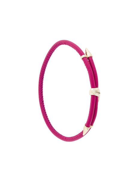 BEA BONGIASCA women gold leather purple pink jewels