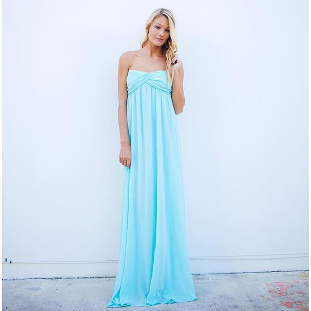 Dress wedding party dress wedding party dresses for Wedding dresses with tiffany blue