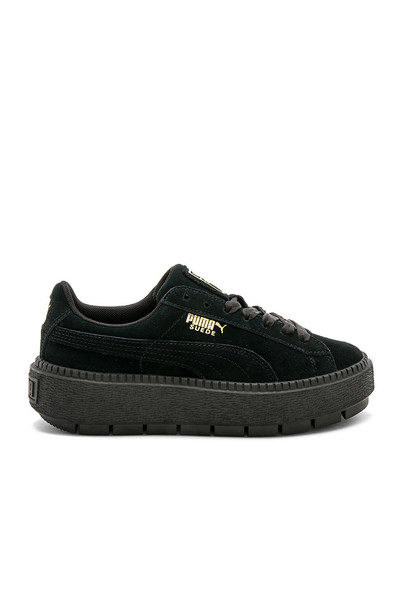 puma suede black shoes