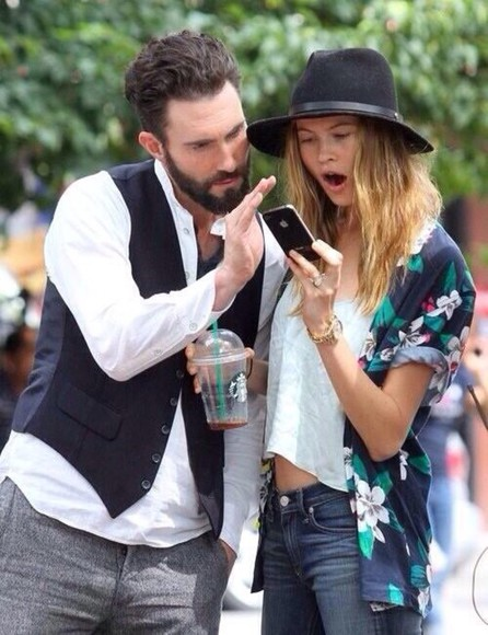 victoria's secret victoria's secret model cardigan behatiprinsloo adam levine